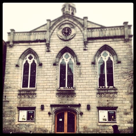Smock Alley Theatre in the snow, March 27th 2013 - Photo by Rebeccah Farrell